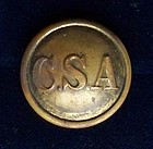 Confederate Army General Service Brass Button