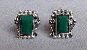 Pair of Vintage Mexican Silver Earrings