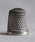 Tiny Child's Sterling Silver Thimble, Simon Brothers