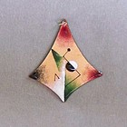 Modernist Enamel on Copper Pendant by H. Tishler