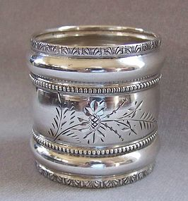 Victorian Sterling Silver Napkin Ring, engraved