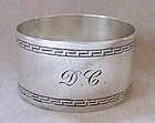 Victorian Sterling Silver Napkin Ring, Greek Key Motif