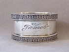 Sterling Silver Napkin Ring, James, early 20th century