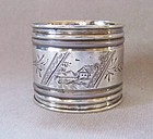 Victorian Sterling Silver Napkin Ring, R. Wallace & Son