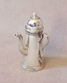Sterling Silver Dollhouse Miniature Coffee Pot