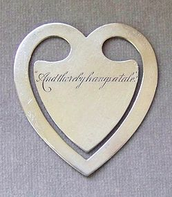 Sterling Silver Georg Jensen Heart Bookmark