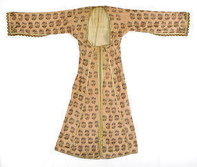 Rare Antique Persian Qajar Woman's Silk Robe.