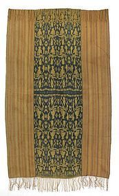 Old Indonesian Ikat with Stripes.