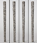 Antique Chinese Export Silver Cane Handle, c. 1910.