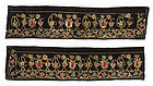 Two Indo Persian Embroidered Velvet Panels w. Sequins