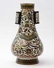 "Japanese Cloisonne Enamel ""Arrow Toss"" Vase, 19th C."