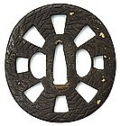 Iron Tsuba, Japan, Edo period. Signed.