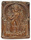 Copper Plaque, South India, 19th C.