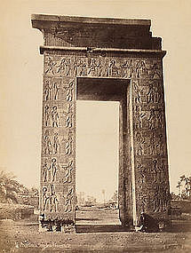 Early Albumen Photograph: Egypt, Karnak. c. 1870.