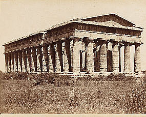 Albumen Photograph of Temple of Poseidon, c. 1870.