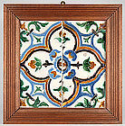 Hispano Moorish Arista Tile, Spain, 16th / 17th C.