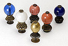 Collection of 6 Chinese Court Hat Insigna, late Qing.