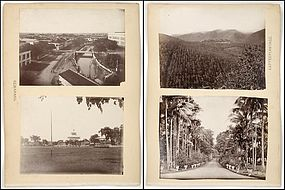 4 Historical Photos from Java, Batavia, 19th C.