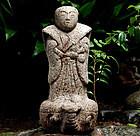 Stone Urashima Taro Granite Turtle Japanese Fable Edo