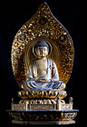 Amida Nyorai Buddha Gilt-Wood Buddhist Sculpture