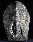 Stone Nyoirin Kannon Bosatsu Bodhisattva Edo 18 c.