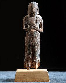 Wooden Kongara-Doji Fudo-Myo Buddhist Sculpture 14/15c.