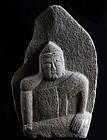 Stone Nyoirin Kannon Bosatsu Minkan Butsu Edo 18/19 c.