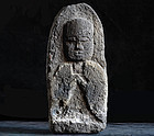 Stone Jizo Bosatsu Bodhisattva Sculpture Edo 19 c.