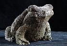 Stone Sculpture Toad Frog Kaeru Edo 19 c.