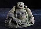 Stone Hotei Shichifukujin Seven Lucky Gods Edo 19 c.