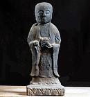 Stone  Jizo Bosatsu Butsudan Momoyama/Edo ca. 1600