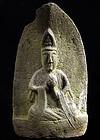 Stone Sho-Kannon Bosatsu Bodhisattva Edo 18 c.
