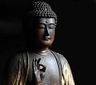 Gilt-Wood Amida Nyorai Buddha Muromachi 15 c.