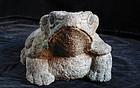 Stone Frog Toad Kaeru Late-Edo ca. 1850