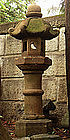 Stone Lantern Ishi-Doro Garden Statuary Tea Edo 19 c