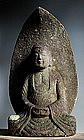 Stone Amida Nyorai Buddha Jizo Kannon bodhisattva Edo