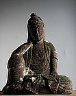 Stone Nyoirin Kannon Bosatsu bodhisattva Buddha Edo