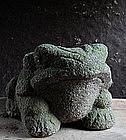 Granite Stone Frog Jizo Kannon Buddha 19 c.