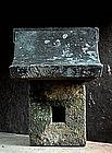 Stone Hokora God-Pad Shinto Buddhist Jizo Edo 18 c.