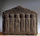 Stone 6-Jizo Bosatsu Bodhisattva Buddha Kannon Edo 17 c