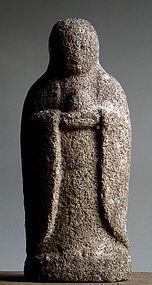 Granite Jizo Bosatsu Bodhisattva Buddha Kannon Edo