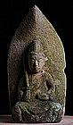 Stone Monju Bosatsu Bodhisattva Buddha Jizo Kannon Edo