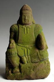 Stone Ebisu Seven Lucky Gods Shichifukujin Edo 19 c.