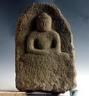 Stone Amida Buddha Jizo Bodhisattva Muromachi 16 c.