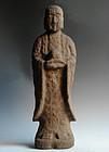 Stone Jizo Bosatsu Bodhisattva Buddha Kannon Edo 18 c.
