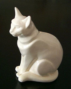 Nagel, French  Art Deco, White Cat ,1930's
