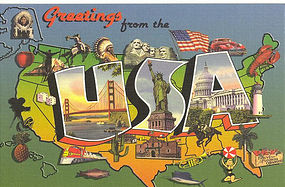 Images of the American Dream,  Linen Postcard