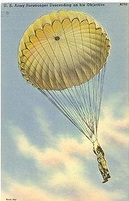 Tichnor Linen Postcard, Paratrooper