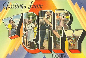 Postcard, Ybor City, Tichnor