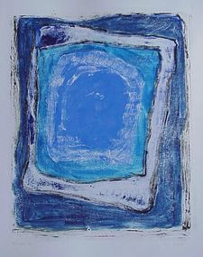 "Emily Mead Monoprint ""Cenote IV"""